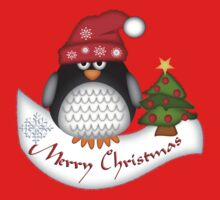 Cute Christmas Penguin Kids Tee