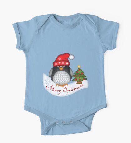 Cute Christmas Penguin One Piece - Short Sleeve