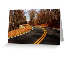 Last of  the Fall Colors, Sky Line Drive Virginia Greeting Card