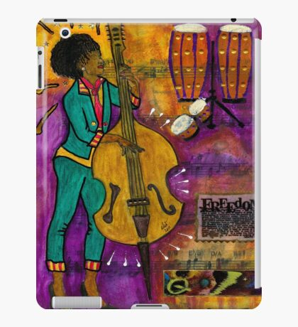 That Sistah on the Bass - iPad Cover iPad Case/Skin