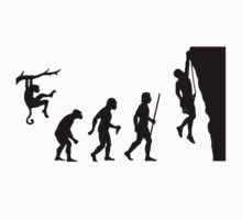 Evolution of Man Rock Climbing by movieshirtguy