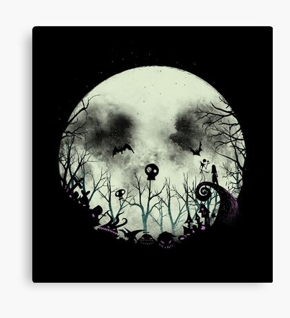 Halloween Town Canvas Print