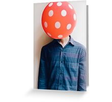 balloon head Greeting Card