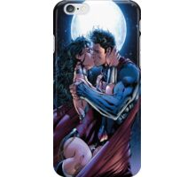 kiss in the moon superman iPhone Case/Skin