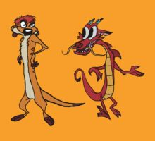 Timon & Mushu by MrRaccoon