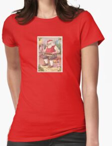 A Vintage Merry Christmas Santa Claus in his Workshop T-Shirt