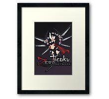 Elite Female Warrior Framed Print