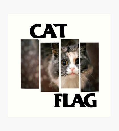 Cat Flag Art Print