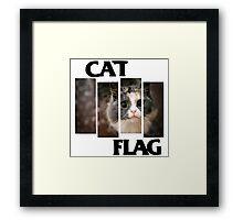 Cat Flag Framed Print