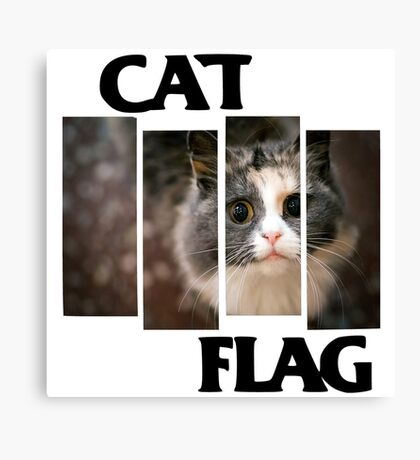 Cat Flag Canvas Print