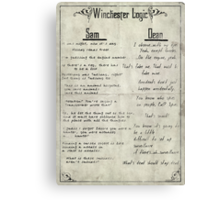 Winchester Logic Canvas Print