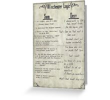 Winchester Logic Greeting Card