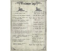 Winchester Logic Photographic Print