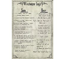 Winchester Logic Photographic Print