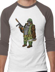 Fightin' Monkeys (Gorilla) Men's Baseball ¾ T-Shirt