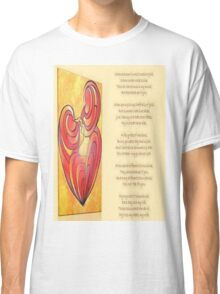 A Canvas Of My Love, My Heart, My Wife Greeting Card Classic T-Shirt