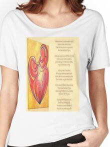 A Canvas Of My Love, My Heart, My Wife Greeting Card Women's Relaxed Fit T-Shirt