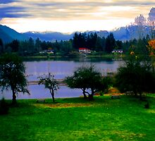 Park and Lake by kendlesixx