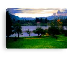 Park and Lake Canvas Print