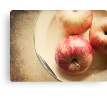 Three Red Apples Canvas Print