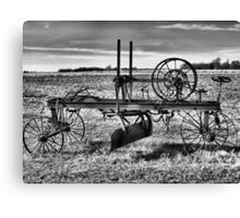 Horse Drawn Road Grader Canvas Print