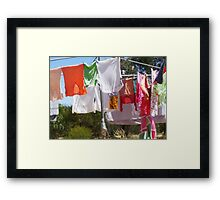 wash day self Framed Print