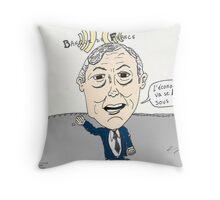 Caricature de Christian NOYER Throw Pillow