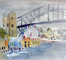 Luna Park from Lavendar Bay by Barbara Gray