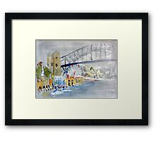 Luna Park from Lavendar Bay Framed Print
