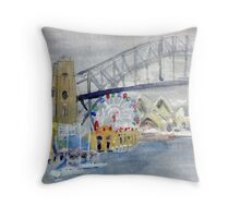 Luna Park from Lavendar Bay Throw Pillow