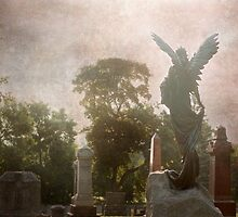 Little Lake Cemetery and the angel by miketaylor205