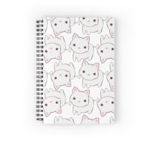 White Kitty Spiral Notebook