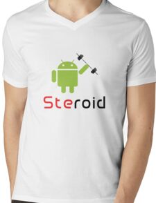 Steroid Mens V-Neck T-Shirt