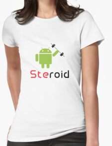 Steroid Womens Fitted T-Shirt