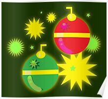Retro-Sparkling Ornaments Poster