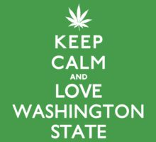 Keep Calm and Love Washington State. Kids Clothes