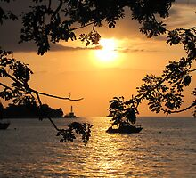 Sunset in East Timor by Romina .