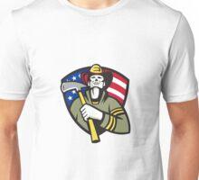 American Fireman Firefighter Emergency Worker  Unisex T-Shirt