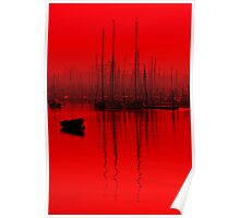 Red tall Masts Brightlingsea Poster