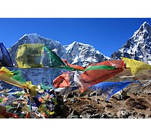 Prayer Flags in the Himalaya - Nepal Photographic Print
