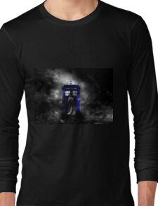 The Doctor and his blue box Long Sleeve T-Shirt