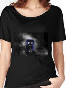 The Doctor and his blue box Women's Relaxed Fit T-Shirt