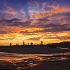 Sunset North Narrabeen Beach NSW by Doug Cliff