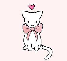 Kitten with Pink Bow by harrisrose