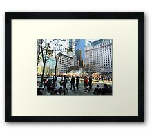 59th Street at 5th Avenue, New York City  Framed Print