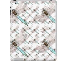Dragonfly Air Force on White iPad Case/Skin