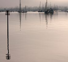 Tall Mast Reflections Brightlingsea by Darren Burroughs