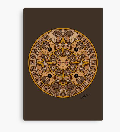 Pokemon Mayan Calendar Canvas Print