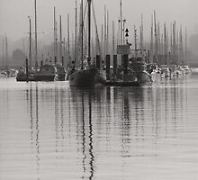 Tall Moored Up Brightlingsea by Darren Burroughs