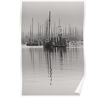 Tall Moored Up Brightlingsea Poster